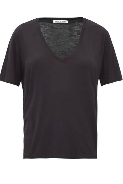Best V neck t-shirts: Frances des Lourdes