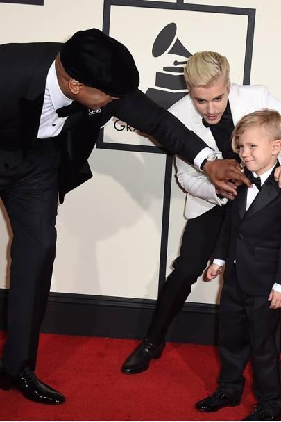 LL Cool J, Justin Bieber & Jaxon Bieber