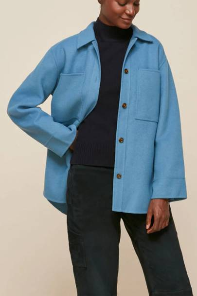 Best Shackets For Spring - Bright Blue