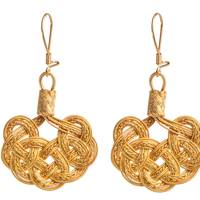 Golden Drop Earrings by Bahtisen