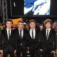 Union J at the London premiere
