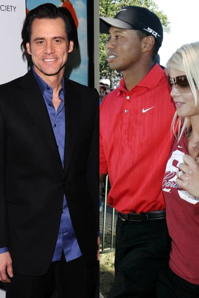 Jim Carrey vs. Tiger & Elin Nordegren