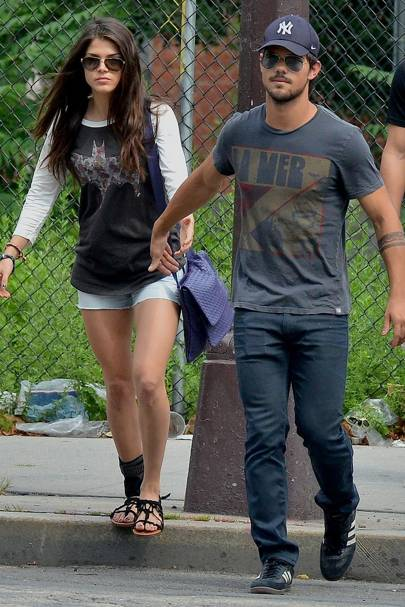 Taylor Lautner goes public with new girlfriend Marie ...