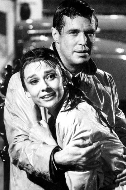 Audrey Hepburn in the rain - Breakfast at Tiffany's, 1961