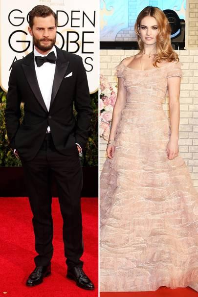 Glamour: Lily James & Jamie Dornan