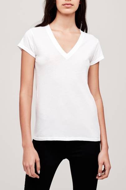 Best v-neck white t-shirt