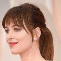 Dakota Johnson's simple ponytail