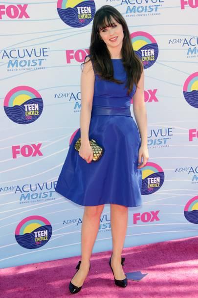 Zooey Deschanel at the Teen Choice Awards 2012