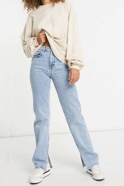 Best straight leg jeans: Ankle split detail