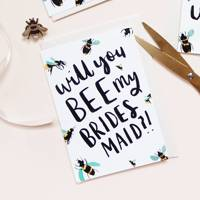 Best funny will you be my bridesmaid card