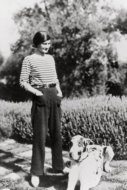 With wide-leg trousers