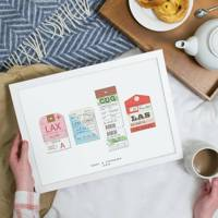 Best travel gifts: the personalised print