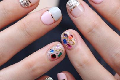 Korean nail art nail designs pictures from instagram glamour uk the korean nail art looks weve totally fallen for prinsesfo Image collections
