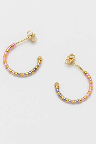BEST GOLD HOOPS: OMBRE BEADS