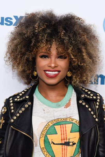 Afro icons celebrity hair and hairstyles glamour uk the look we love the highlights that run through fleurs afro summer perfection pmusecretfo Choice Image