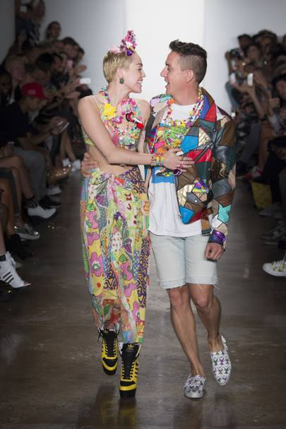 Miley debuts Dirty Hippy at Jeremy Scott's NYFW show