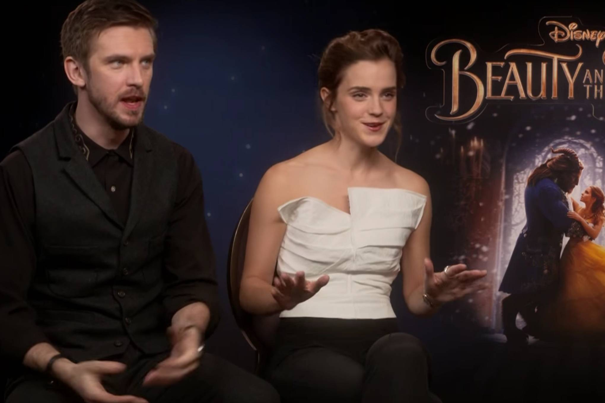Emma Watson & Dan Stevens Talk Beauty And The Beast Wrap Party Dance Moves