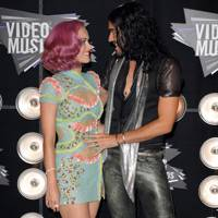 Katy Perry and Russell Brand at the MTV VMAs 2011