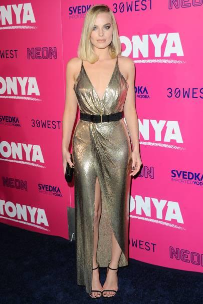Margot Robbie at the I, Tonya premiere