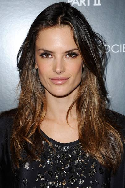 Brunette hair celebrity brunettes hairstyle colour ideas 2016 if you want a piece of the dip dye trend but youre a little shy copy alessandra ambrosio and just add some glossy highlights to the ends of your hair pmusecretfo Gallery