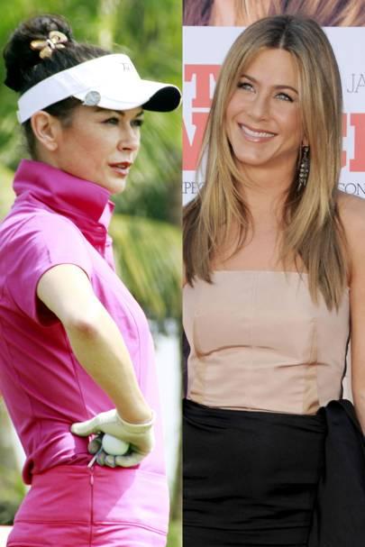 Jennifer Aniston and Catherine Zeta-Jones