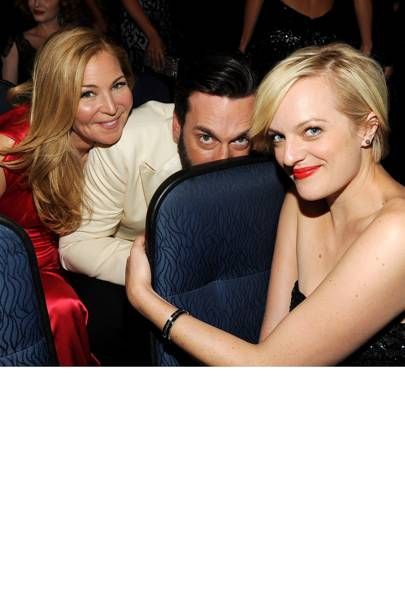 Jon Hamm, Jennifer Westfeldt and Elisabeth Moss