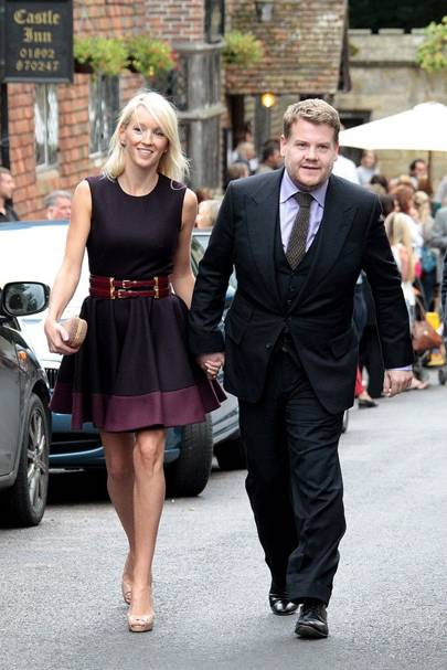 James Corden and Julia Carey, 2012