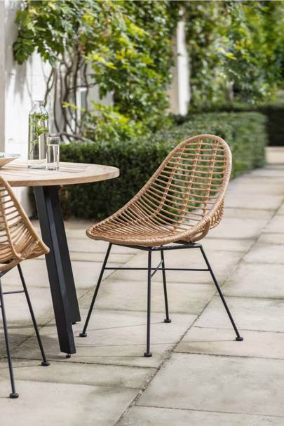 The garden chairs
