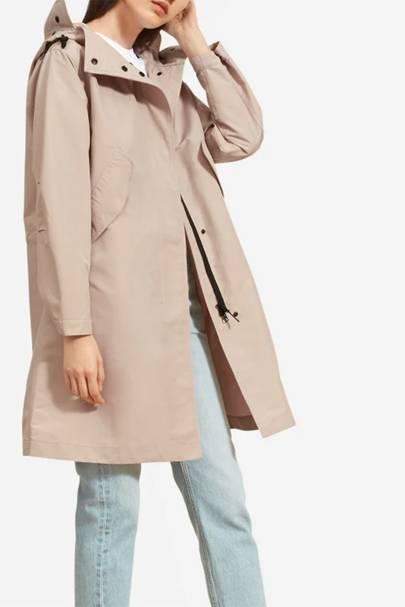 Best raincoats for women: Everlane