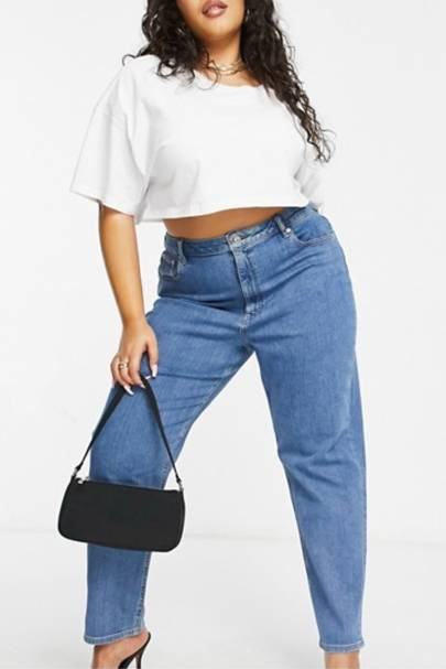 Best Jeans For Curvy Women: Slim Mom Jeans