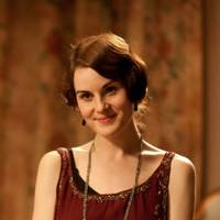 Lady Mary's red dress