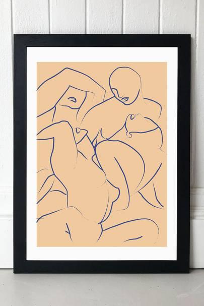 Best wall art: line drawings