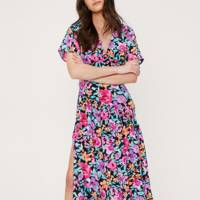 SUMMER DRESSES FOR BIG BOOBS: The Bright Floral Midi