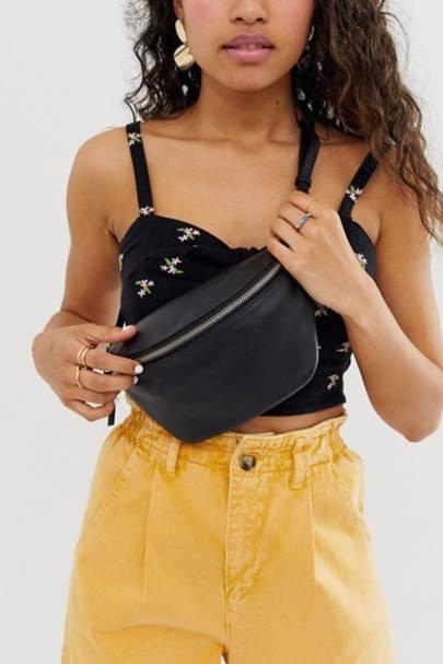 Leather bum bag: ASOS