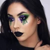 Pretty Halloween Makeup Ideas Mermaid Glitter Gems Sparkle - Gore-makeup