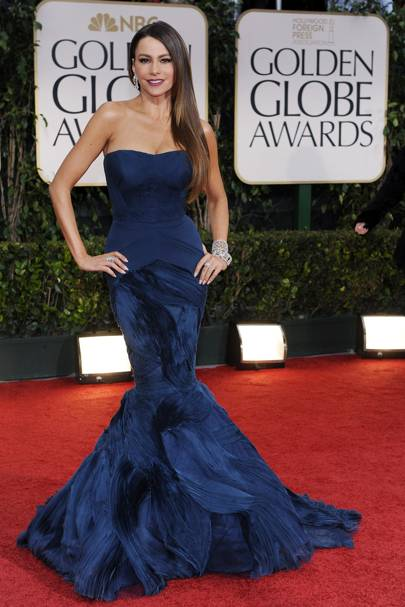 Sophia Vergara at the Golden Globes 2012