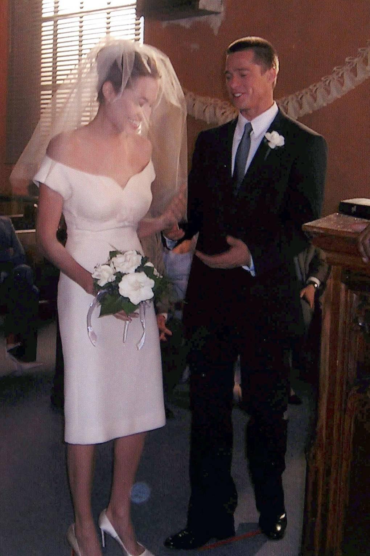 Angelina Jolie Wedding Dress Designer News Glamour Uk