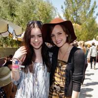 Lily Collins and Emma Watson at Coachella 2012