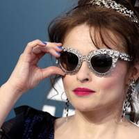 Helena Bonham Carter's Bold Blue