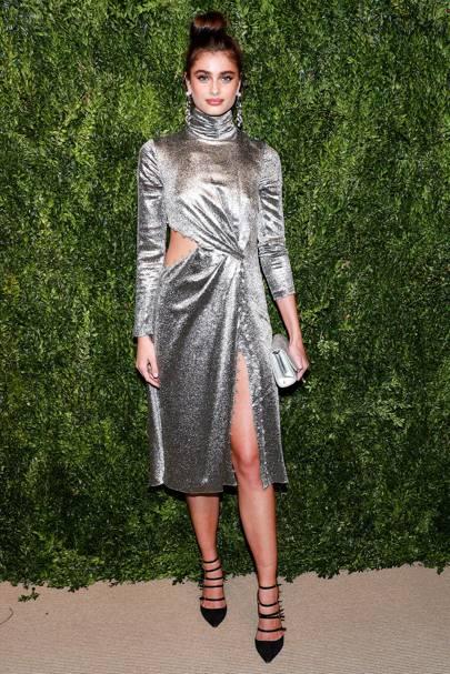 Metallic Silver Gold Fashion Celebrity Looks Outfits 2017 Uk Glamour Uk