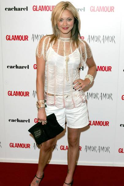 9ef09b76a66d3d Fearne looked like she d taken styling tips from Paris Hilton at the  GLAMOUR Awards in 2004 - though there s no denying she made a big  impression.
