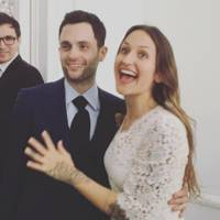 Penn Badgley and Domino Kirke