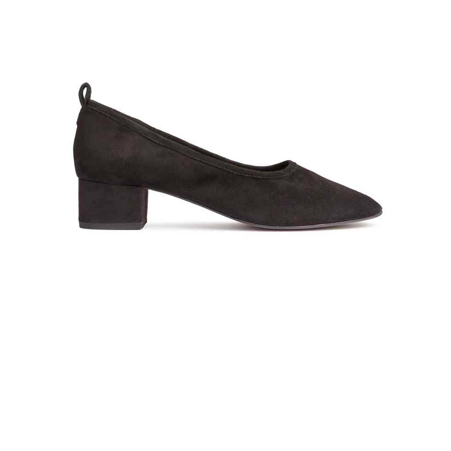 Ballet Pumps And Block Heel Shoes Fashion Trend Glamour Uk High Heels Suede