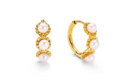Best Wedding Day Jewellery - Pearl Hoops