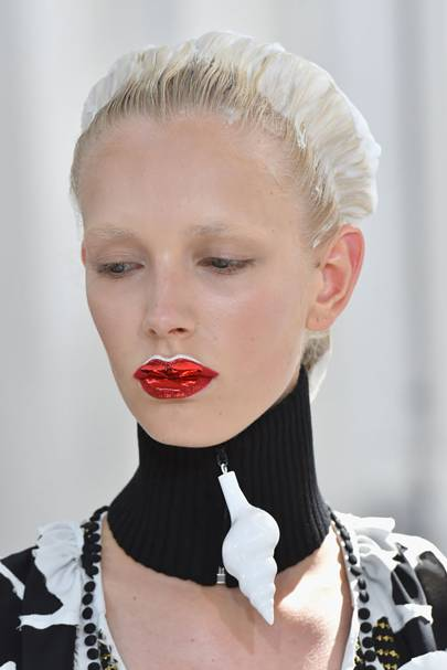 The glass-like lips at Maison Margiela