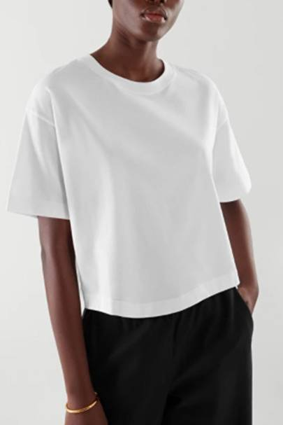 Best Cropped White T-Shirts