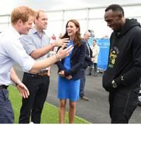 Princes William, Harry, Kate Middleton & Usain Bolt
