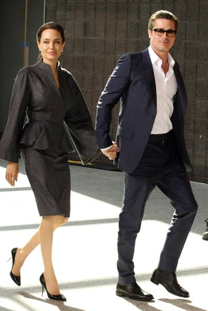 September: Angelina Jolie and Brad Pitt