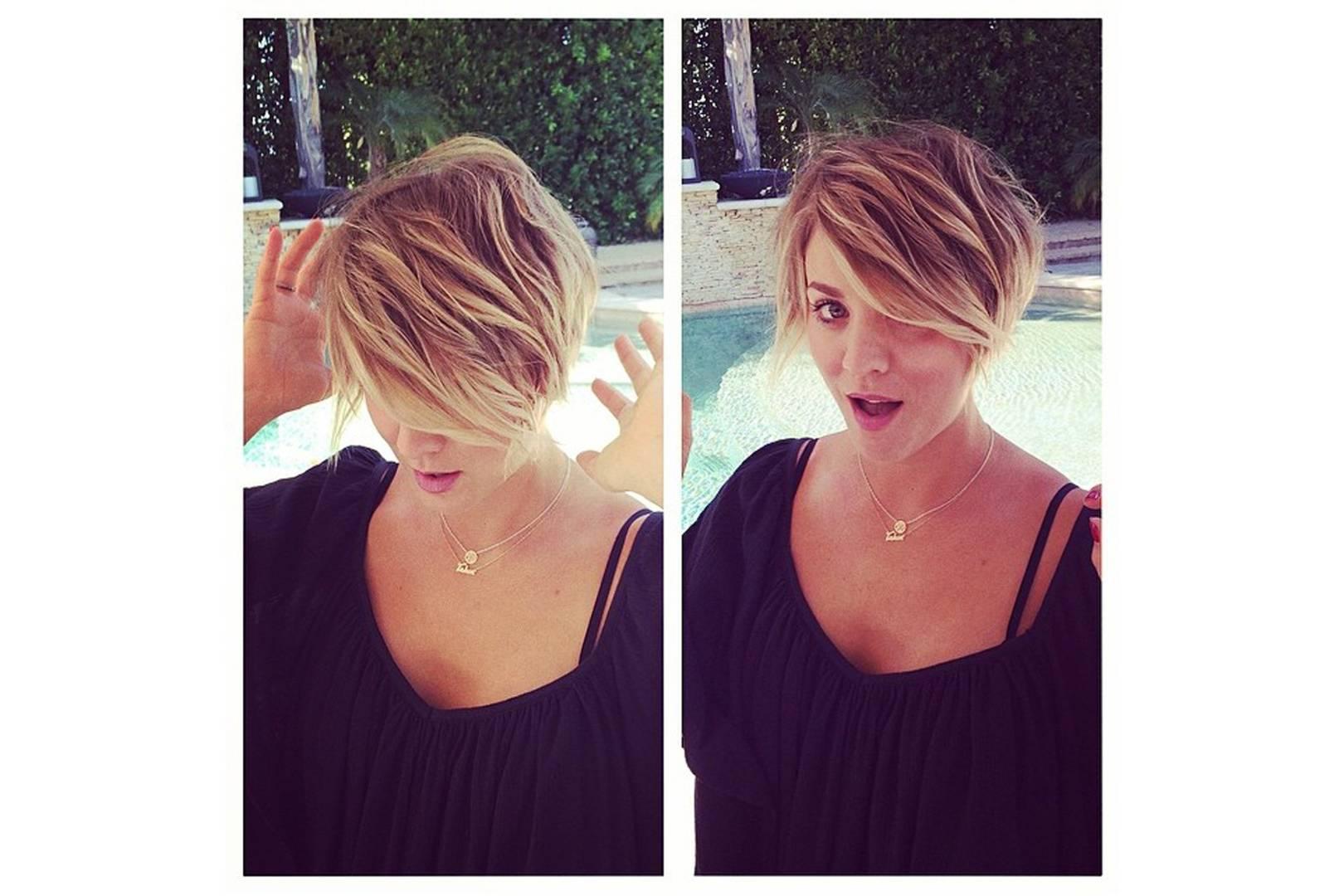 Kaley Cuoco Pixie Cut Hairstyle Photos Glamour Uk