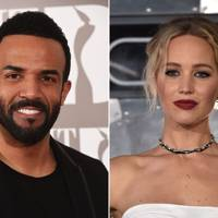 Jennifer Lawrence, actress, by Craig David, singer-songwriter